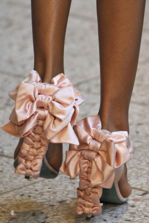 Satin Bow Shoes Alexis Mabille AW08